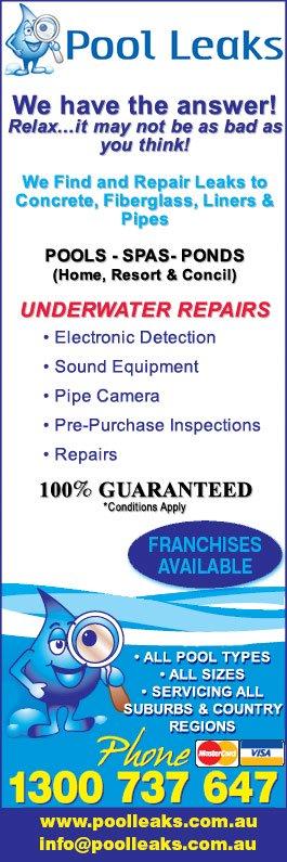 Pool Leaks Swimming Pool Maintenance Repairs