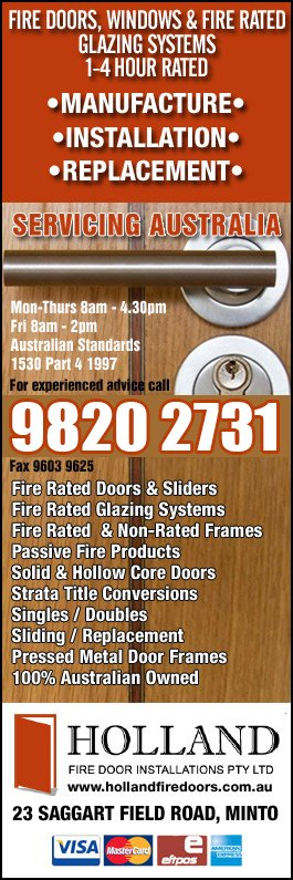 Holland Fire Door Installations Pty Ltd - Promotion
