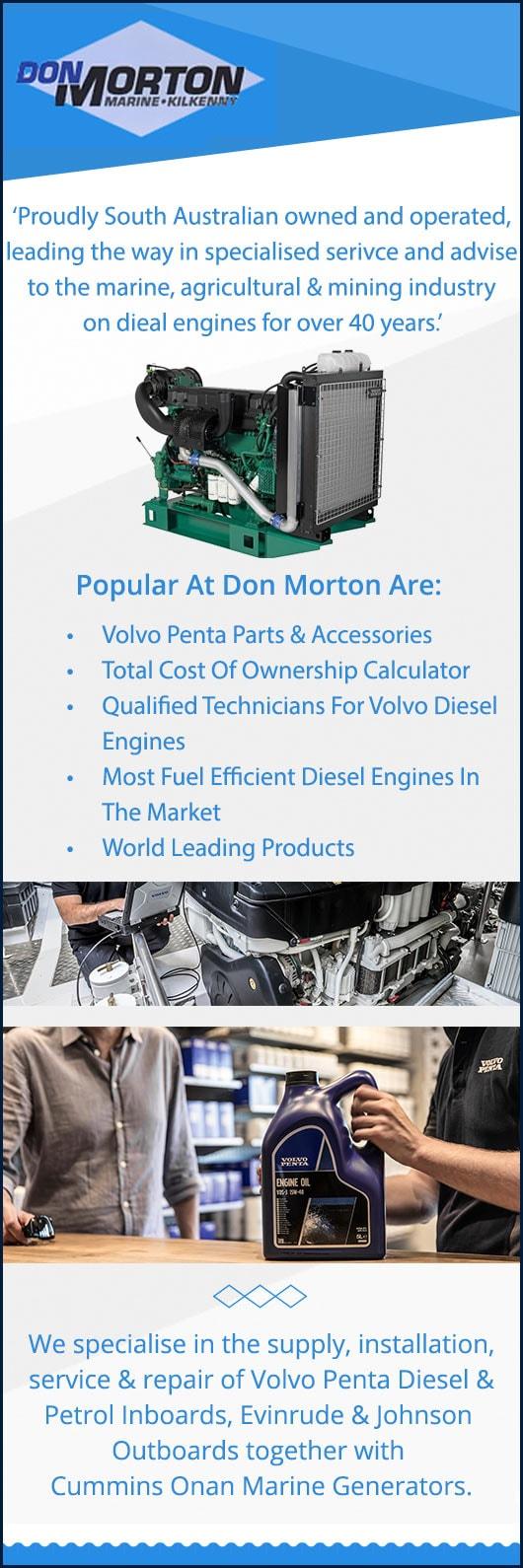 Don Morton Marine Pty Ltd - Diesel Engines, Parts