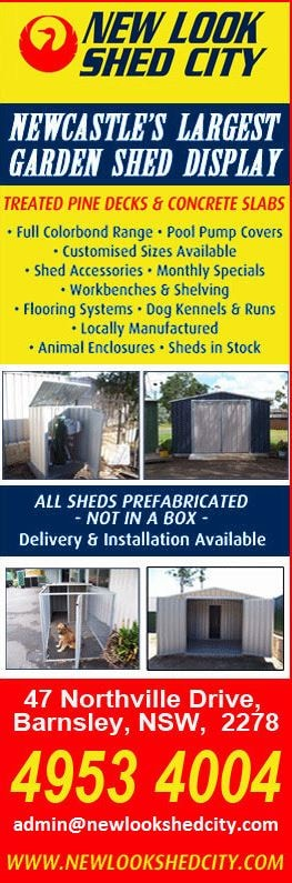 New Look Shed City - Garden Sheds - Maitland