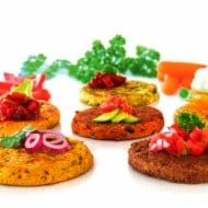 Gourmet Vegie Burgers, Mini Burgers, Sliders and Bites - Vegetarian, Vegan and Gluten Free products available