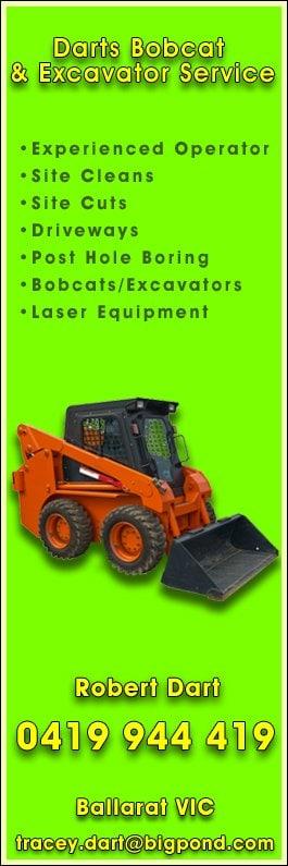 Dart's Bobcat & Excavator Service - Excavation & Earthmoving