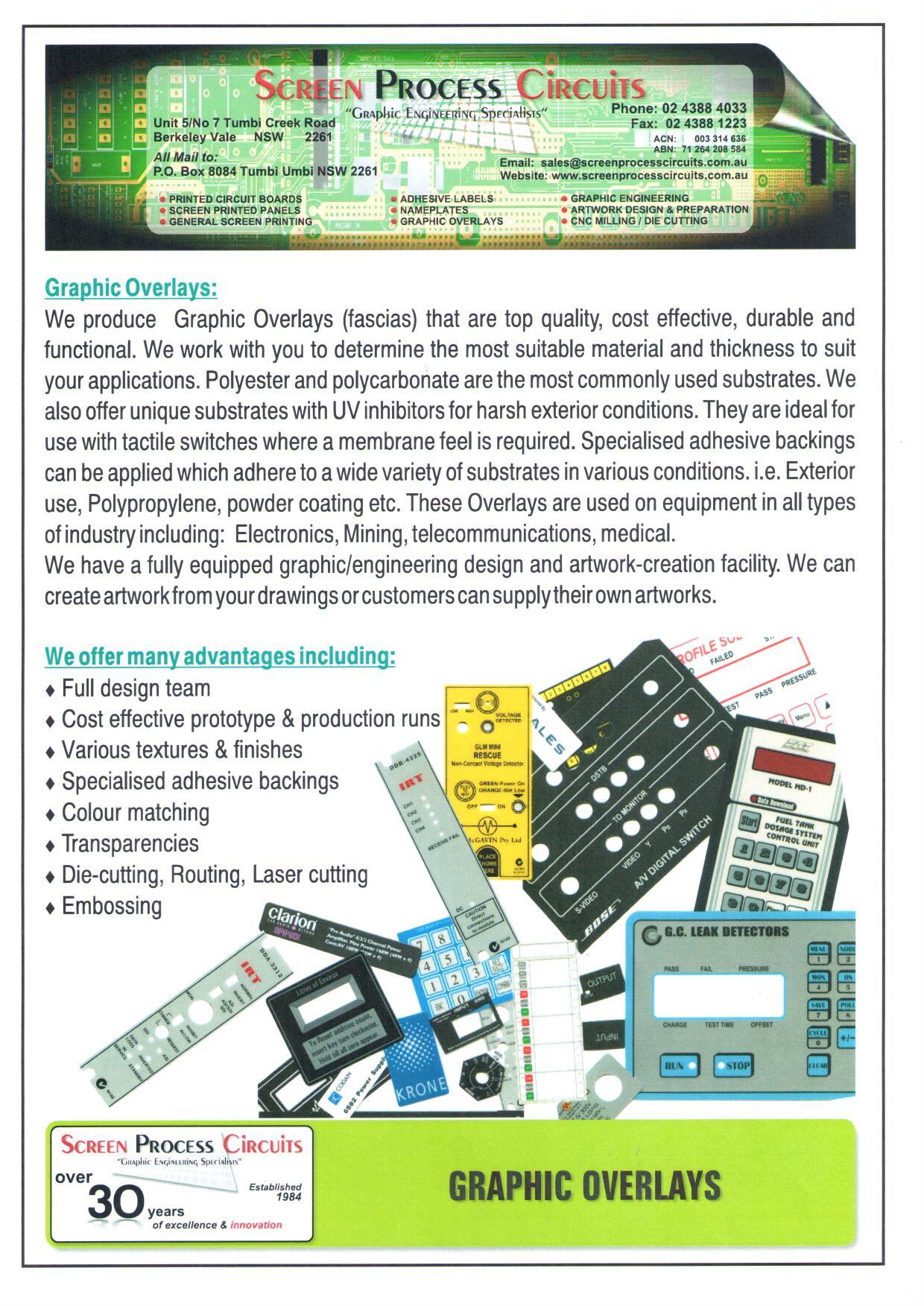 Screen Process Circuits - Screen Printers - Unit 5 7 Tumbi Creek Rd