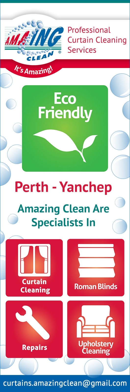 Amazing Clean Fabric Care Subiaco Curtain Cleaning