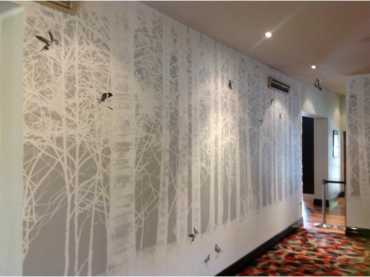 wallpaper and mural installation - photo #8