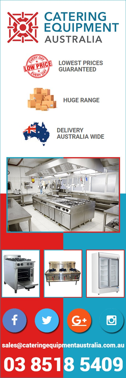 Catering Equipment Australia - Commercial Kitchen Equipment - MELBOURNE
