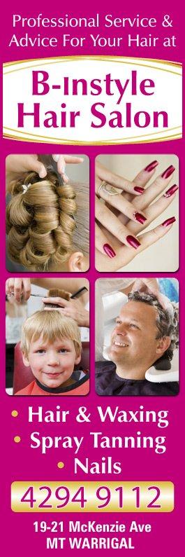 B-Instyle Hair Salon - Hairdressers - 19- 21 McKenzie Ave - Mt Warrigal