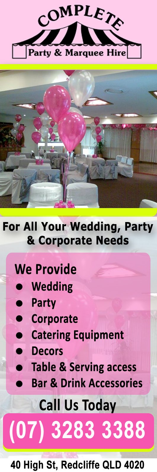 Complete Party Marquee Hire
